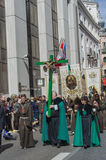 Brotherhood marching in Valladolid Royalty Free Stock Photos