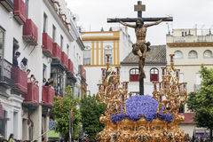 Brotherhood of ye Holy Week in Seville Royalty Free Stock Photos