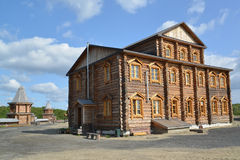 The brotherly case in the territory of the Sacred and Troitsk Trifonov-Pechengsky man's monastery Royalty Free Stock Photo