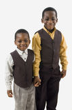 Brothers. Two Afrian american brothers posing for a picture Royalty Free Stock Photos