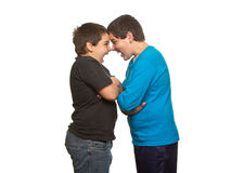 Brothers arguing Royalty Free Stock Images