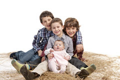 Brothers and baby girl Royalty Free Stock Photo