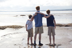 Brothers at the beach Royalty Free Stock Photography