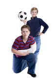 Brothers broken Arm Royalty Free Stock Photo