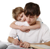 Brothers does lessons together Stock Images