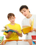 Brothers doing Homework Stock Image
