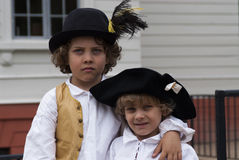 Brothers. Dressed in 18th century clothes Royalty Free Stock Photography