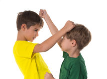 Brothers fighting royalty free stock photography