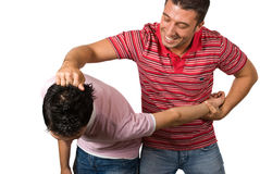 Brothers in funny fight Royalty Free Stock Photos