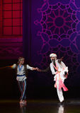 """Brothers hand in hand- ballet """"One Thousand and One Nights"""". Ballet One Thousand and One Nights is based on the fairy tale with the same name in the stock photo"""