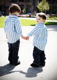 Brothers Holding Hands Royalty Free Stock Photography