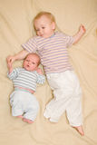 Brothers holding hands Royalty Free Stock Images
