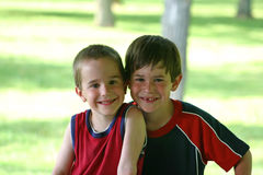 Brothers On Hot Day Stock Photos