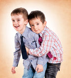 Brothers love Royalty Free Stock Photography