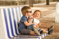 Brothers love Royalty Free Stock Image