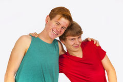 Brothers make jokes together Stock Photography