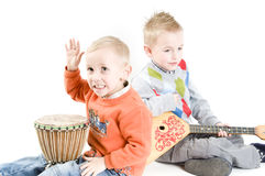 Brothers musicians stock photography