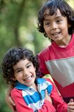 Brothers outdoors Stock Photography