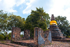 Brothers pagoda on the top of Dang mountain. At Songklha province, Thailand royalty free stock photos
