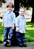 Brothers in the Park - Vertical Royalty Free Stock Photos