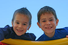 Brothers Playing Royalty Free Stock Images