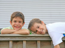 Brothers Playing Around Stock Photo