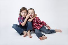 Brothers portrait - complicated relationship Royalty Free Stock Photos