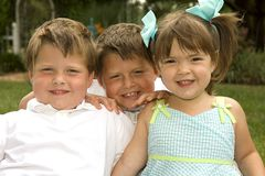 Brothers and Sister Royalty Free Stock Image