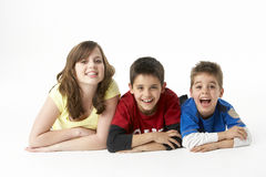 Brothers And Sister In Studio stock images