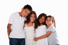 Brothers and sisters family Stock Image