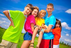 Brothers and sisters together Stock Photography