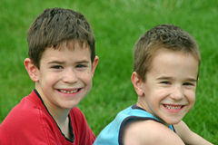 Brothers Smiling Stock Image