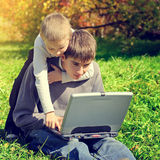 Brothers With Laptop