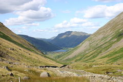 Brotherswater du passage de Kirkstone Photo libre de droits