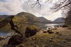 Brotherswater lakesideengelska sjöar arkivbilder
