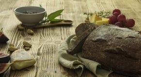 Brotkäse und Snäcke Lizenzfreie Stockfotografie