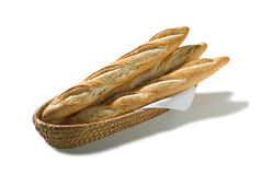 Brotkorb Baguette Stock Photography