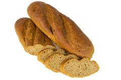 Brotlaib mit geschnittenen piaces Lizenzfreies Stockbild