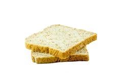 Brotscheibe lokalisiert auf weißem Hintergrund Stockfotografie