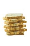 Brotscheibe lokalisiert auf weißem Hintergrund Lizenzfreie Stockbilder