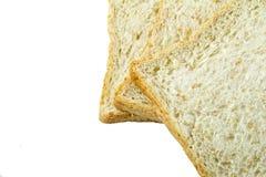 Brotscheibe lokalisiert auf weißem Hintergrund Stockbild