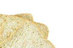 Brotscheibe lokalisiert auf weißem Hintergrund Stockfoto