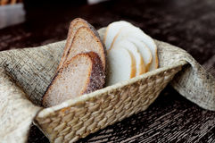 Brotscheiben Stockbild