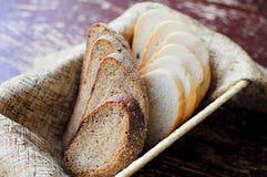 Brotscheiben Stockfoto