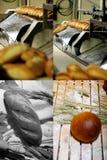 Brotspezialitätenfabrik Gitter 2x2, Schirm spaltete sich in vier Teilen auf stockbilder
