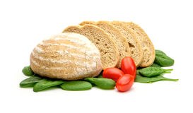 Brottomaten und -spinat Stockbilder