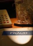 brotts- bedrägeriwhite för krage Arkivfoto