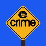 brotts- e-teckenvarning Royaltyfri Bild