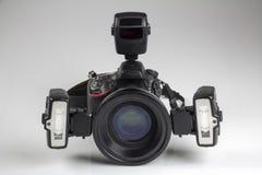 Brotts- kamera för platsutredningdslr Royaltyfria Bilder