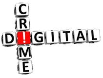 brotts- korsord för 3D Digital stock illustrationer